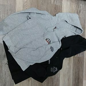 Harley Davidson hoodies small .lot of two.